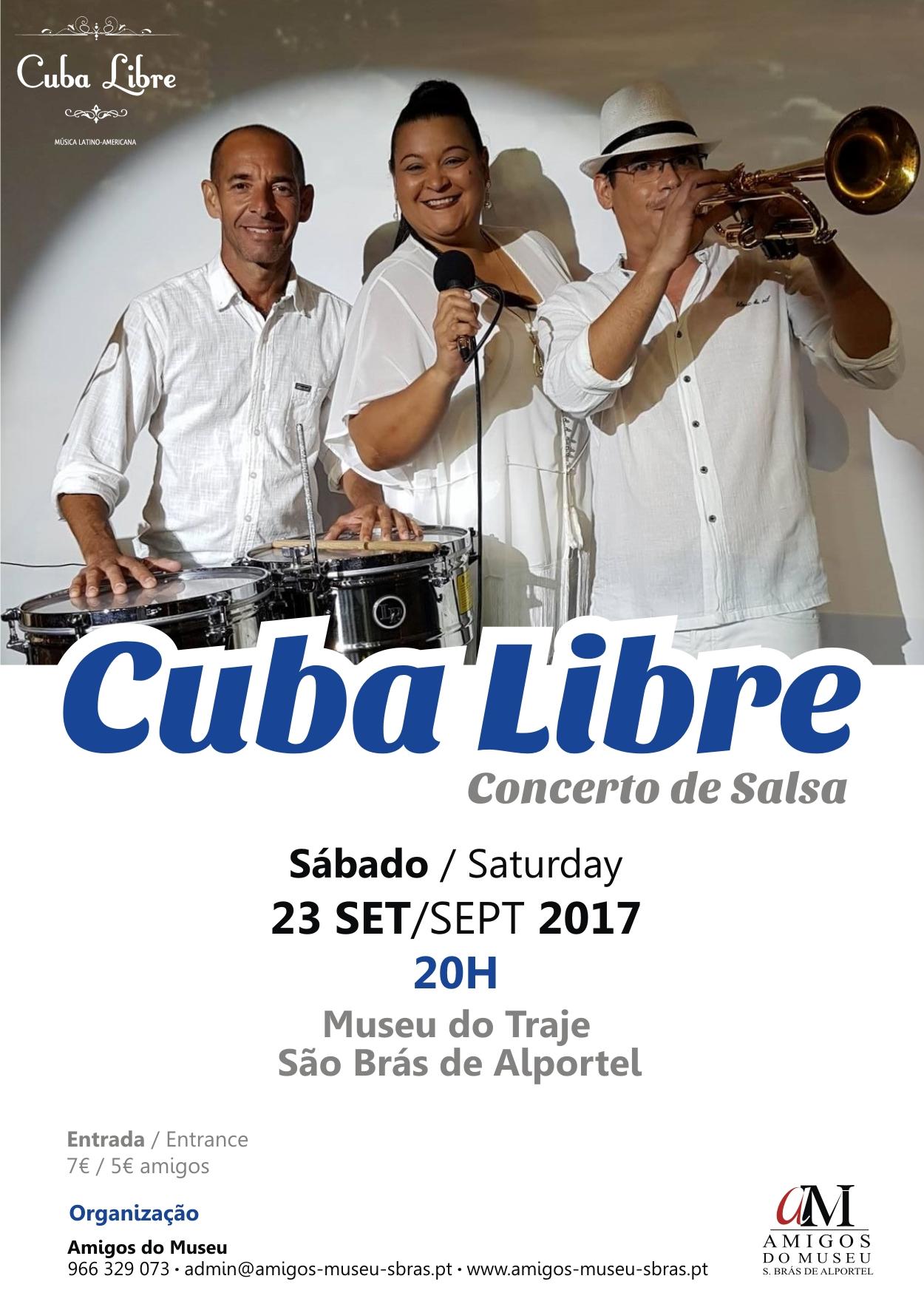 concerto de salsa com a banda Cuba Livre