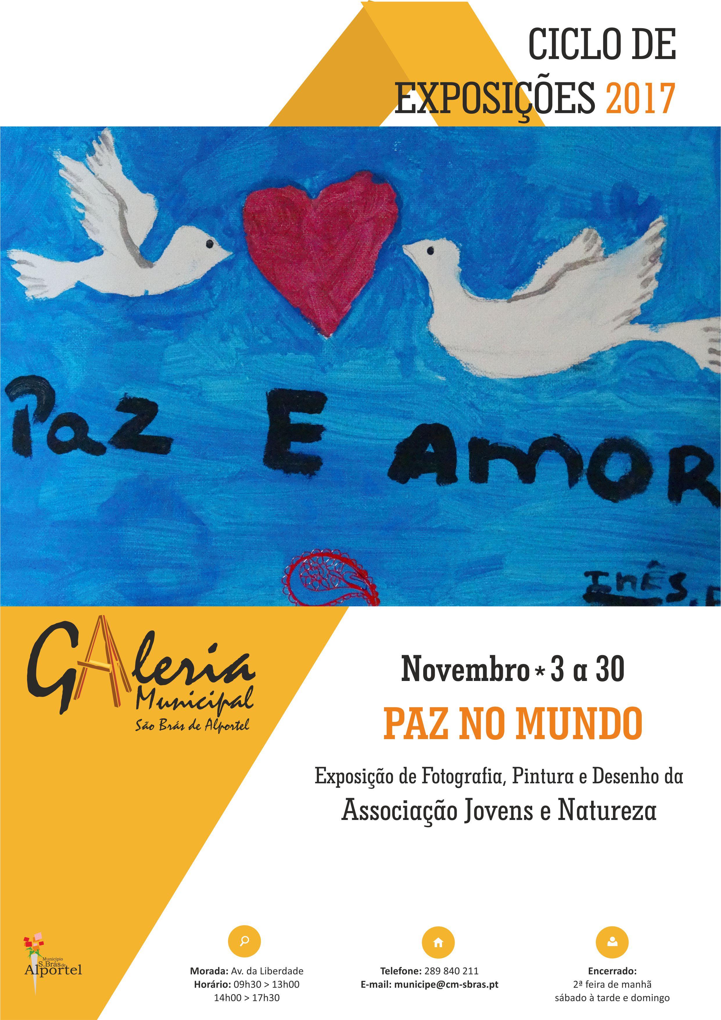 cartaz da exposiçãp Paz no Mundo