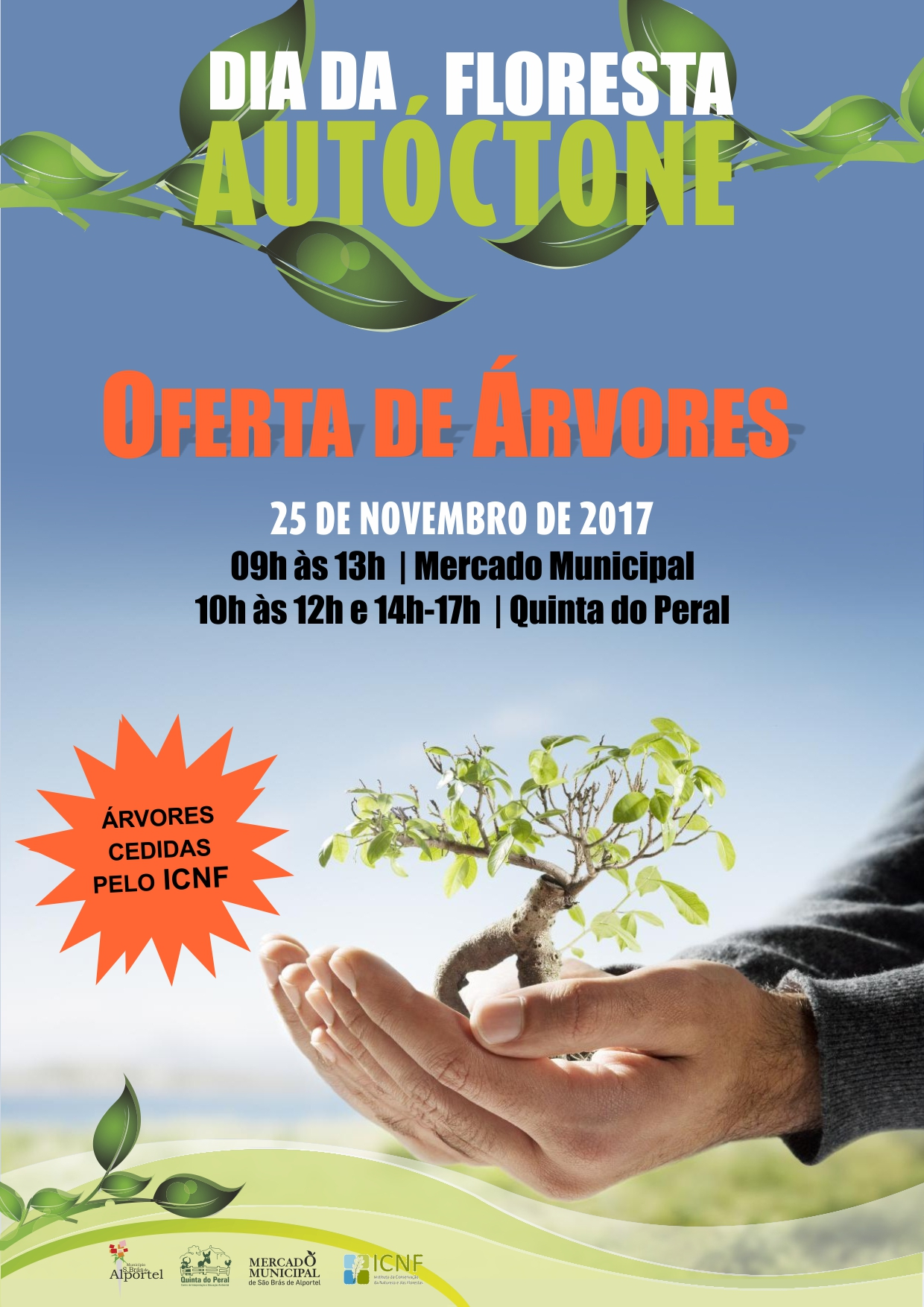 cartaz do dia da floresta autóctone de 2017
