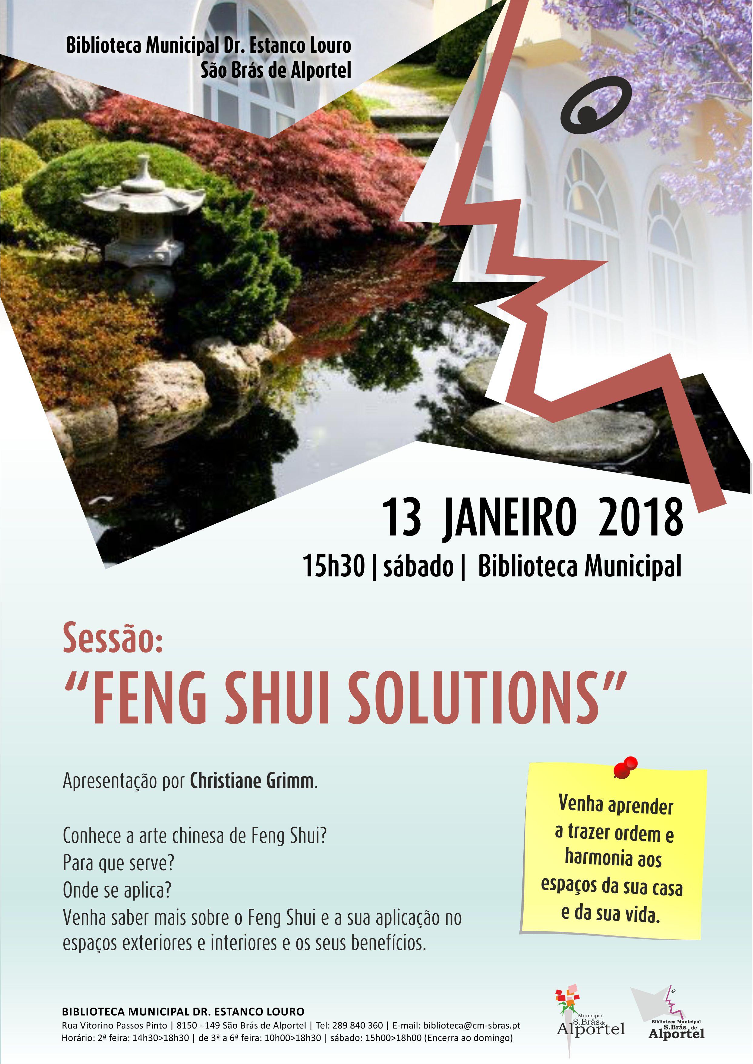cartaz da sessão de feng shui