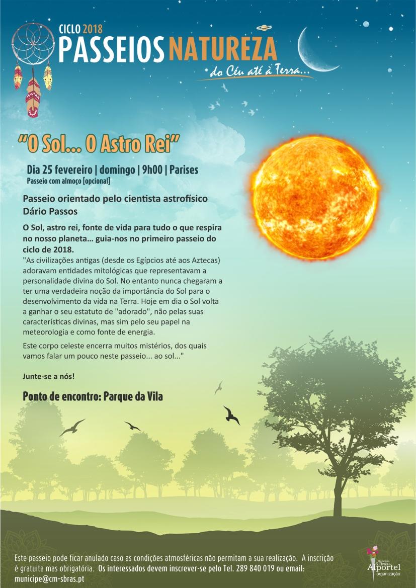 cartaz do ciclo passeios natureza de fevereiro de 2018