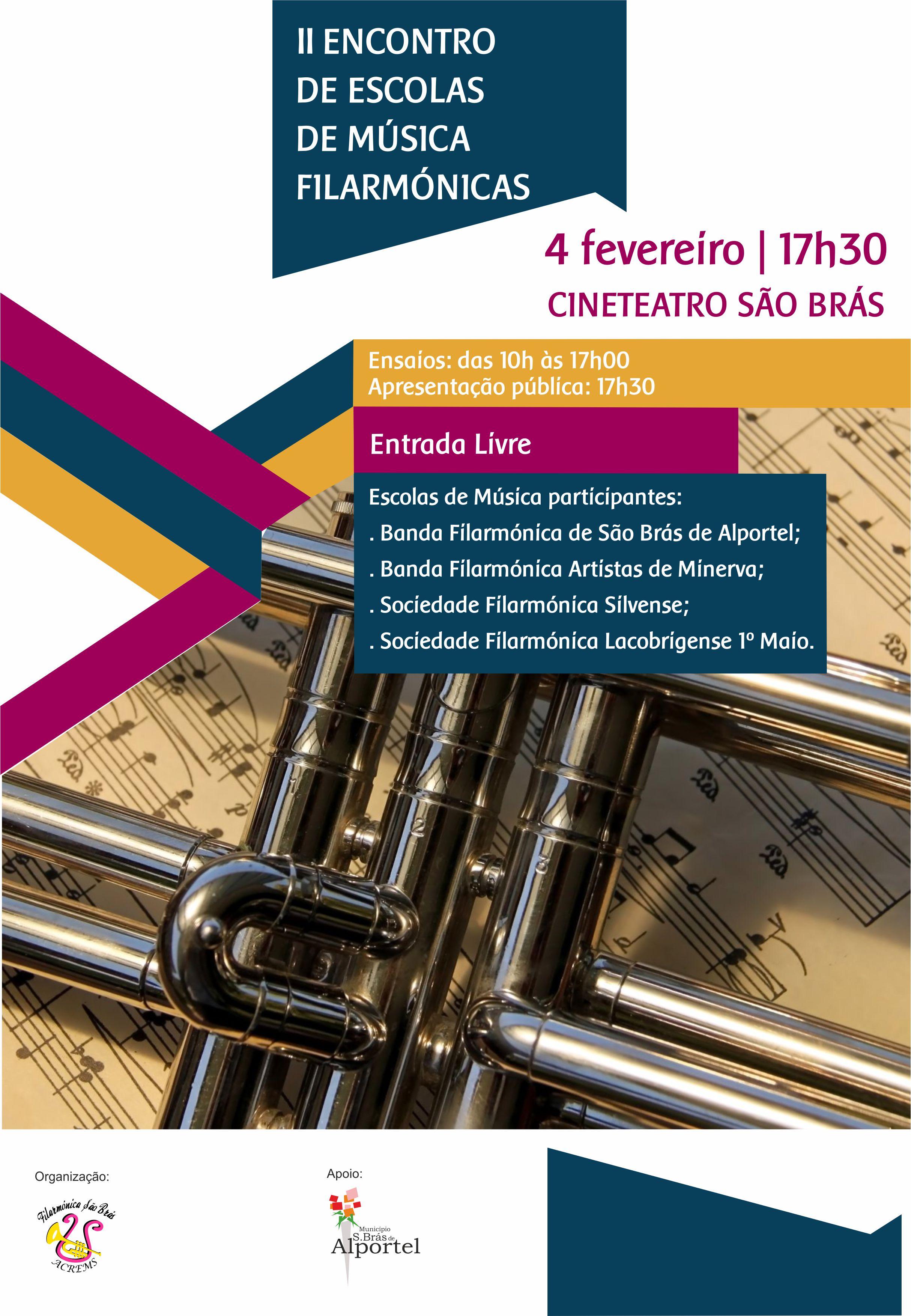 cartaz do II encontro de escolas de música filarmónicas