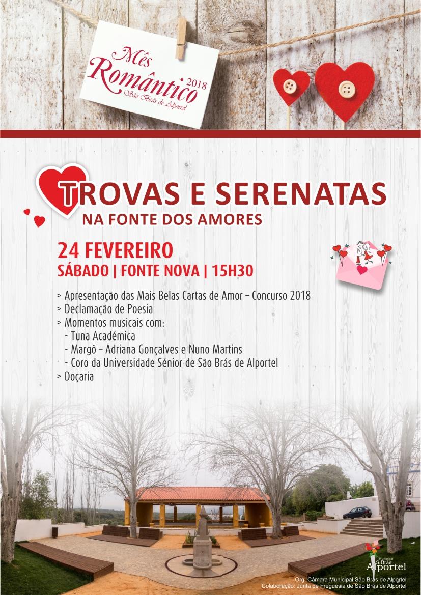 cartaz das trovas e serenatas na fonte dos amores