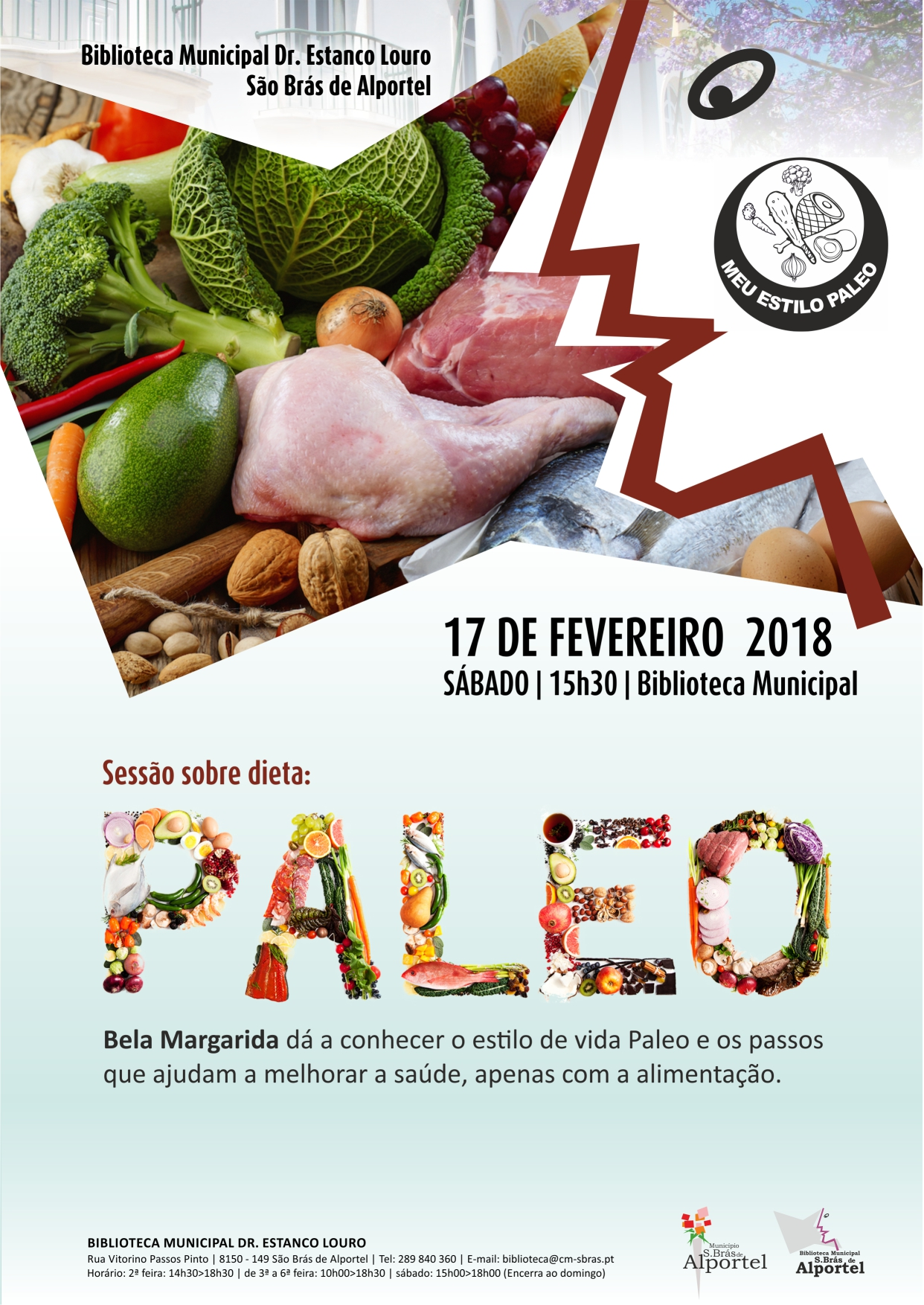 cartaz do workshop dieta paleo
