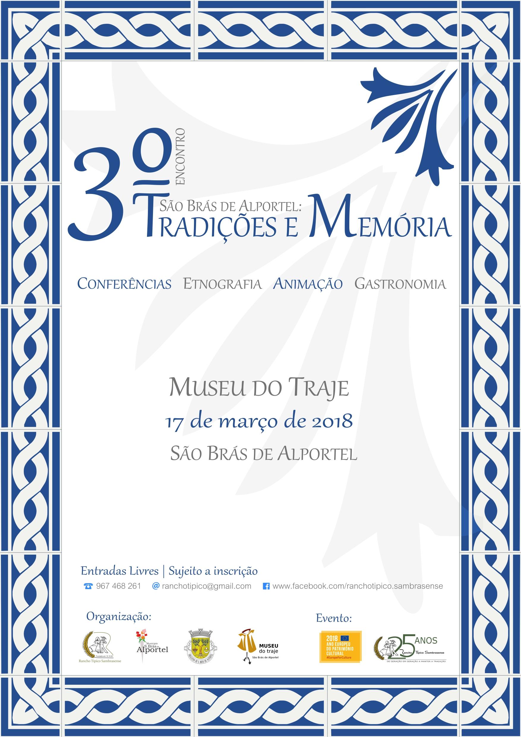 cartaz do III Encontro São Brás de Alportel: Tradições e Memória