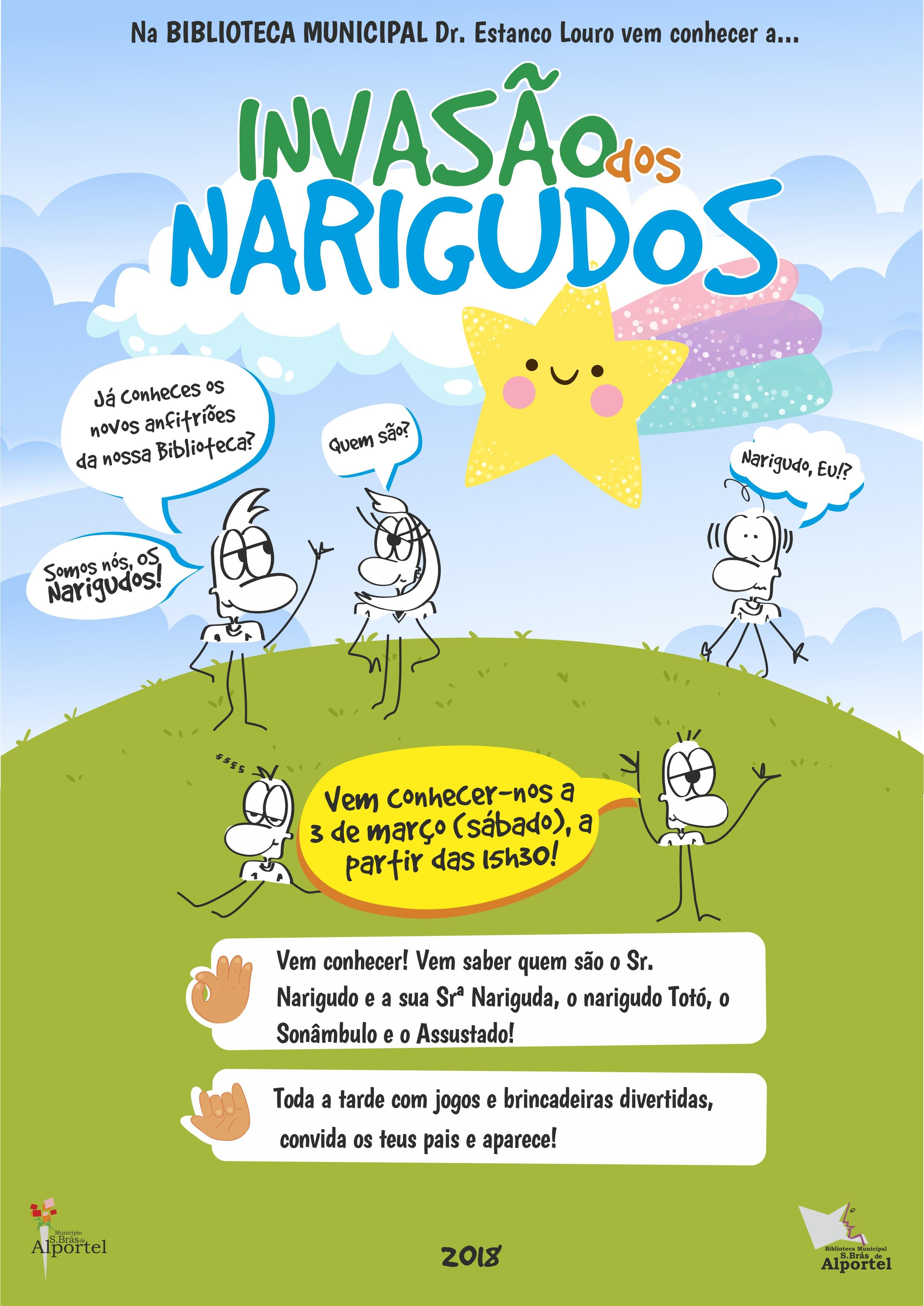 cartaz da invasão dos narigudos