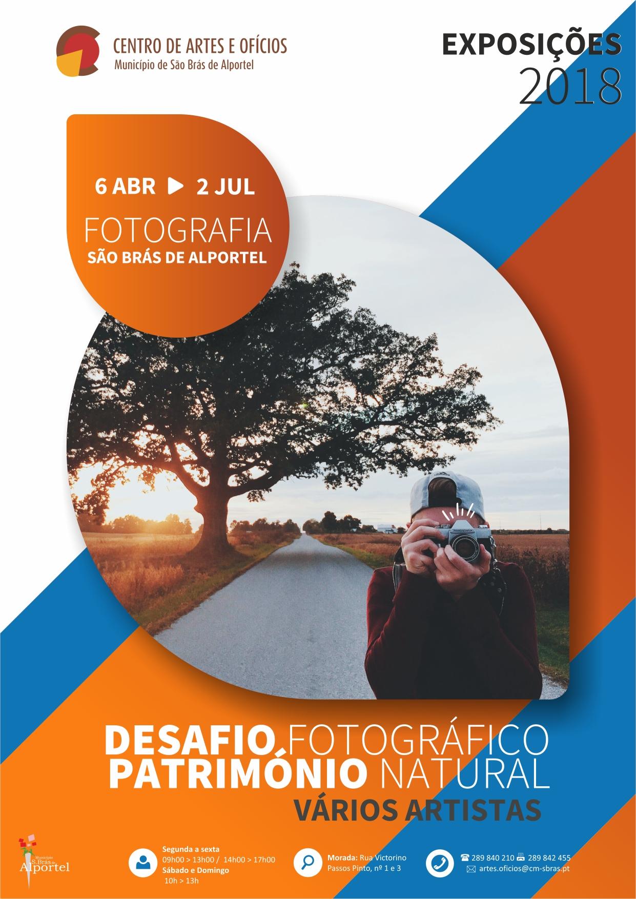 cartaz da exposição desafios fotográfico 2018
