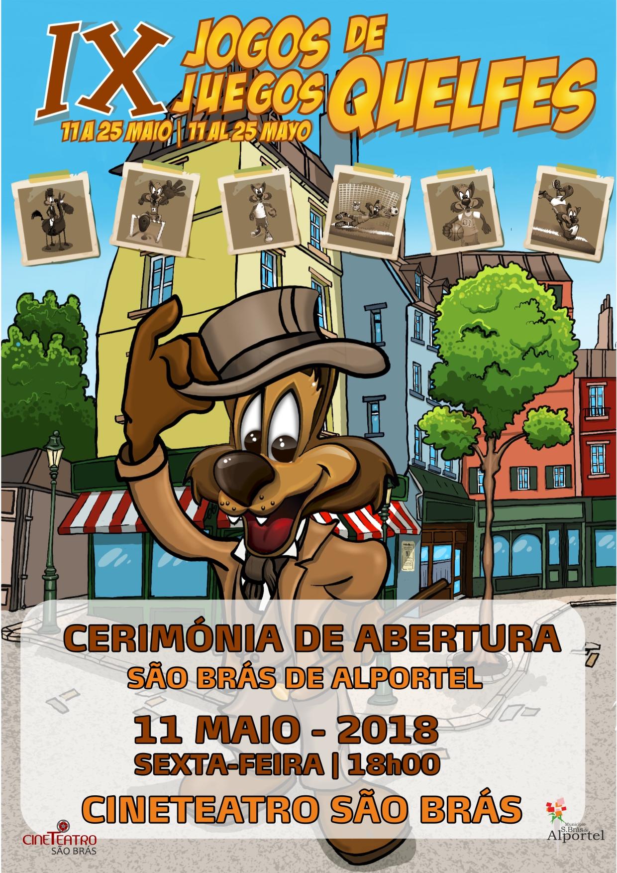 cartaz dos IX Jogos de Quelfes