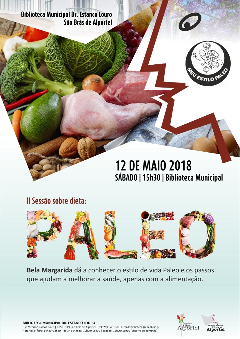 cartaz da II sessão sobre dieta paleo