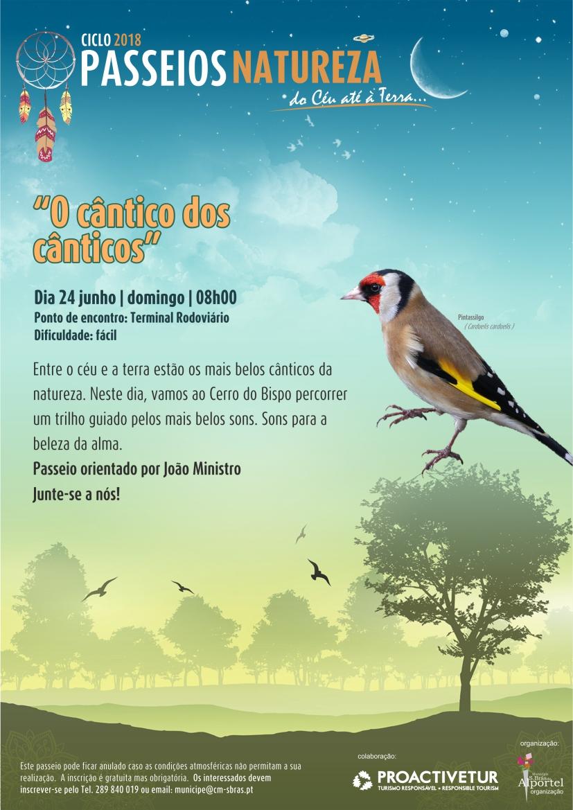 """cartaz do passeio natureza """"cântico dos cânticos"""""""