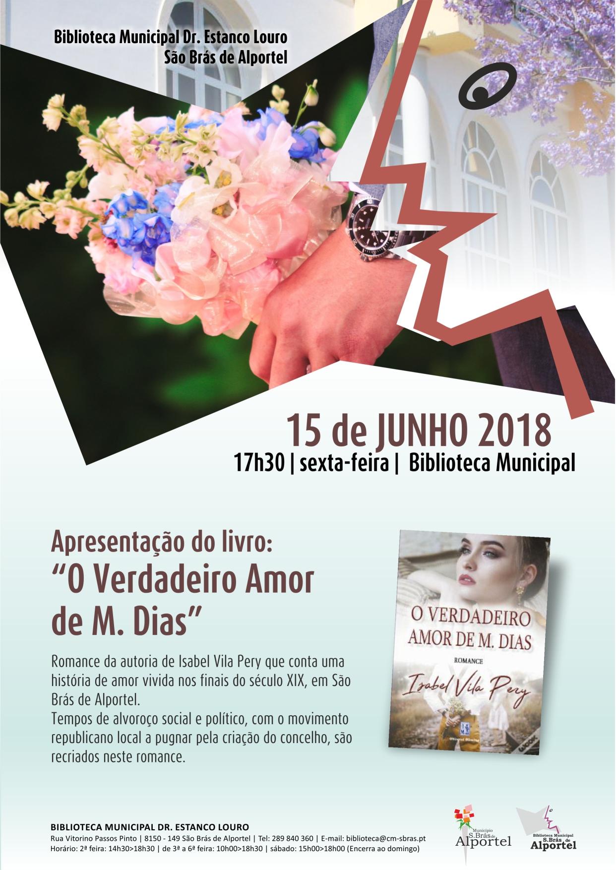 apresentação do livro o verdadeiro amor de M. Dias