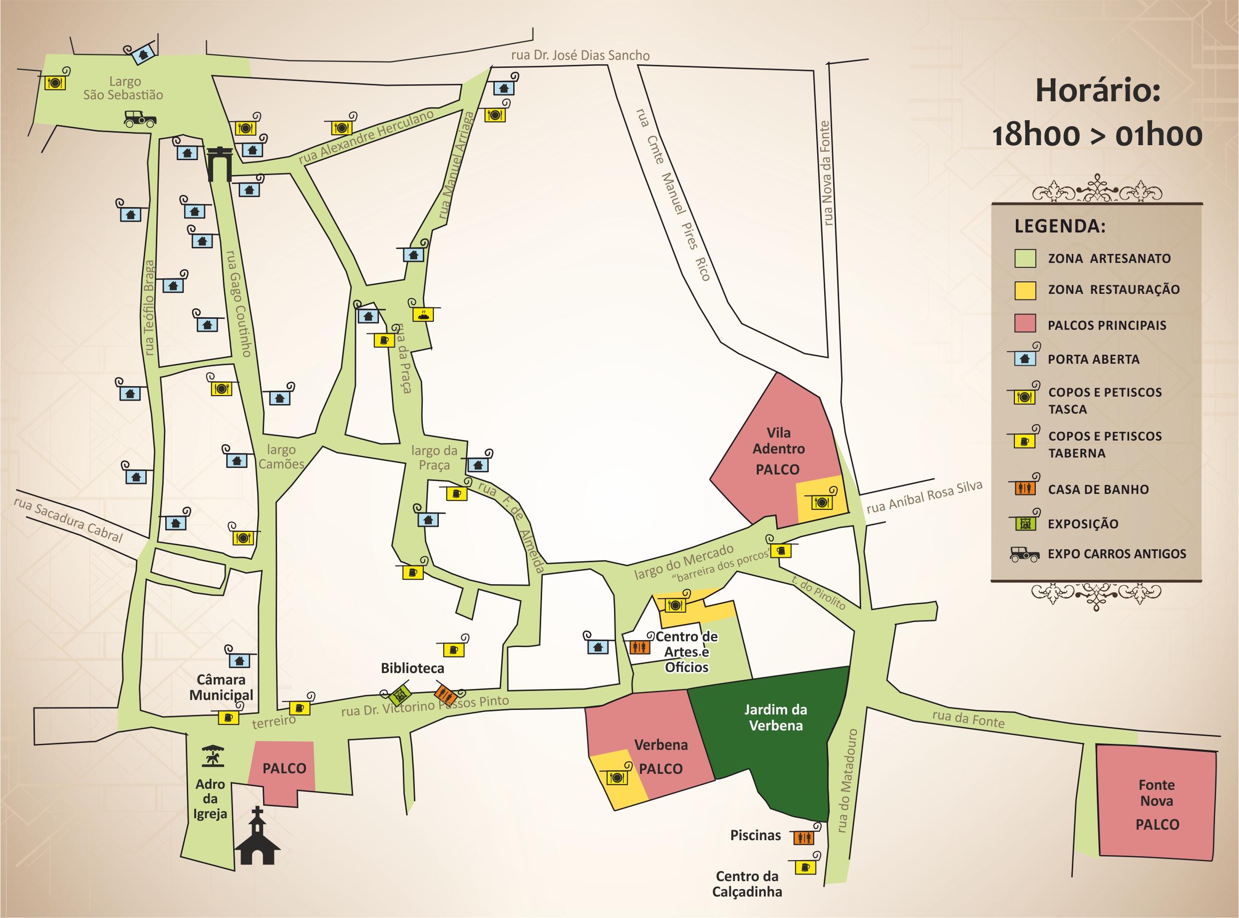 Mapa da Recriação Histórica