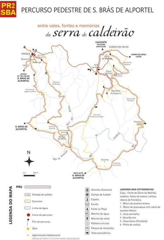 Mapa | Percurso Pedestre Memórias da Serra do Caldeirão...