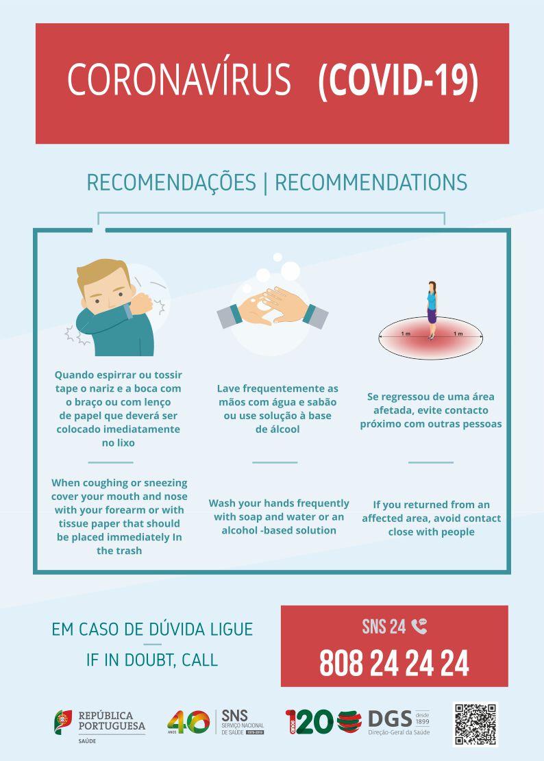 Cartaz Recomendações Gerais Coronavírus