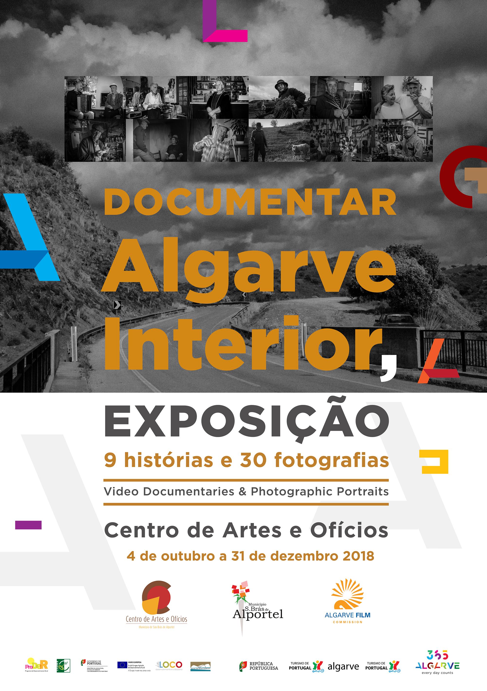 """cartaz da exposição """"documentar Algarve interior"""""""