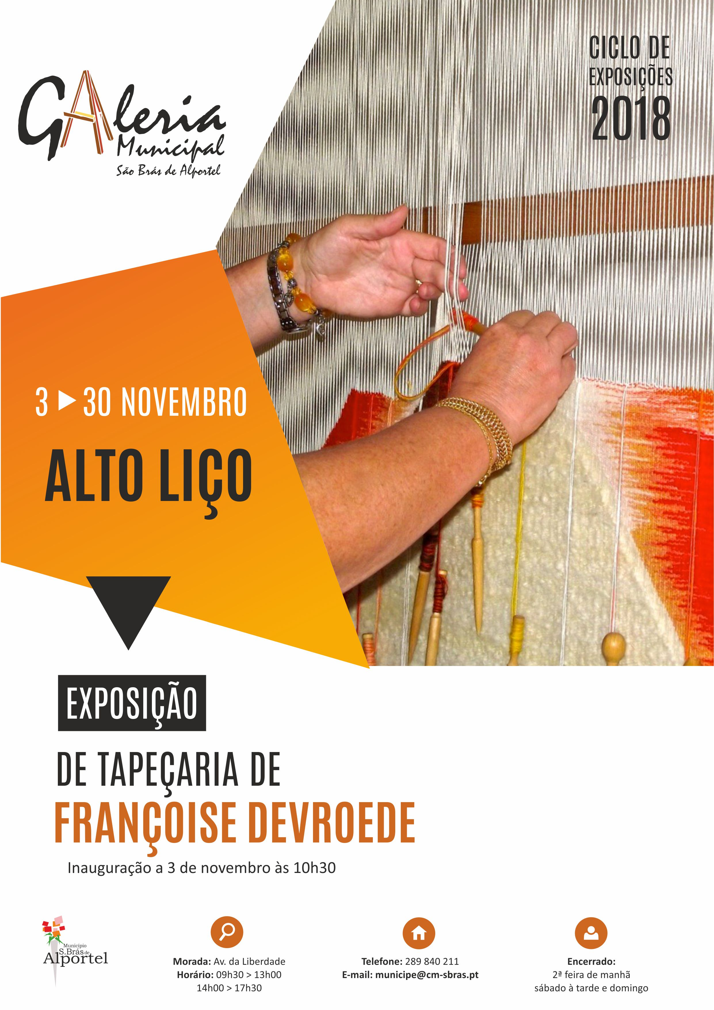 cartaz da exposição de tapeçaria de alto liço