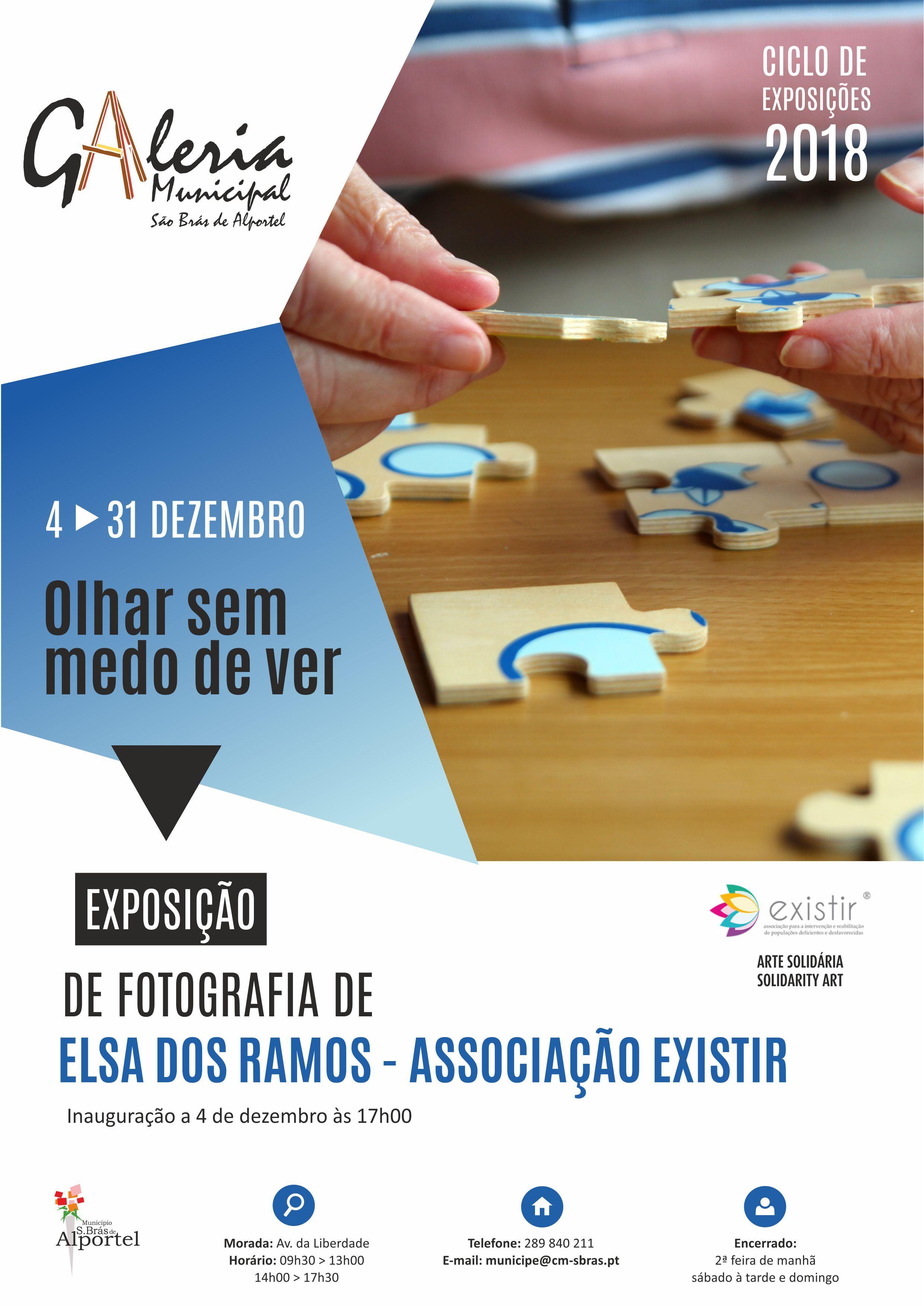 """cartaz da Exposição """"Olhar sem medo de ver"""" de Elsa dos Ramos"""