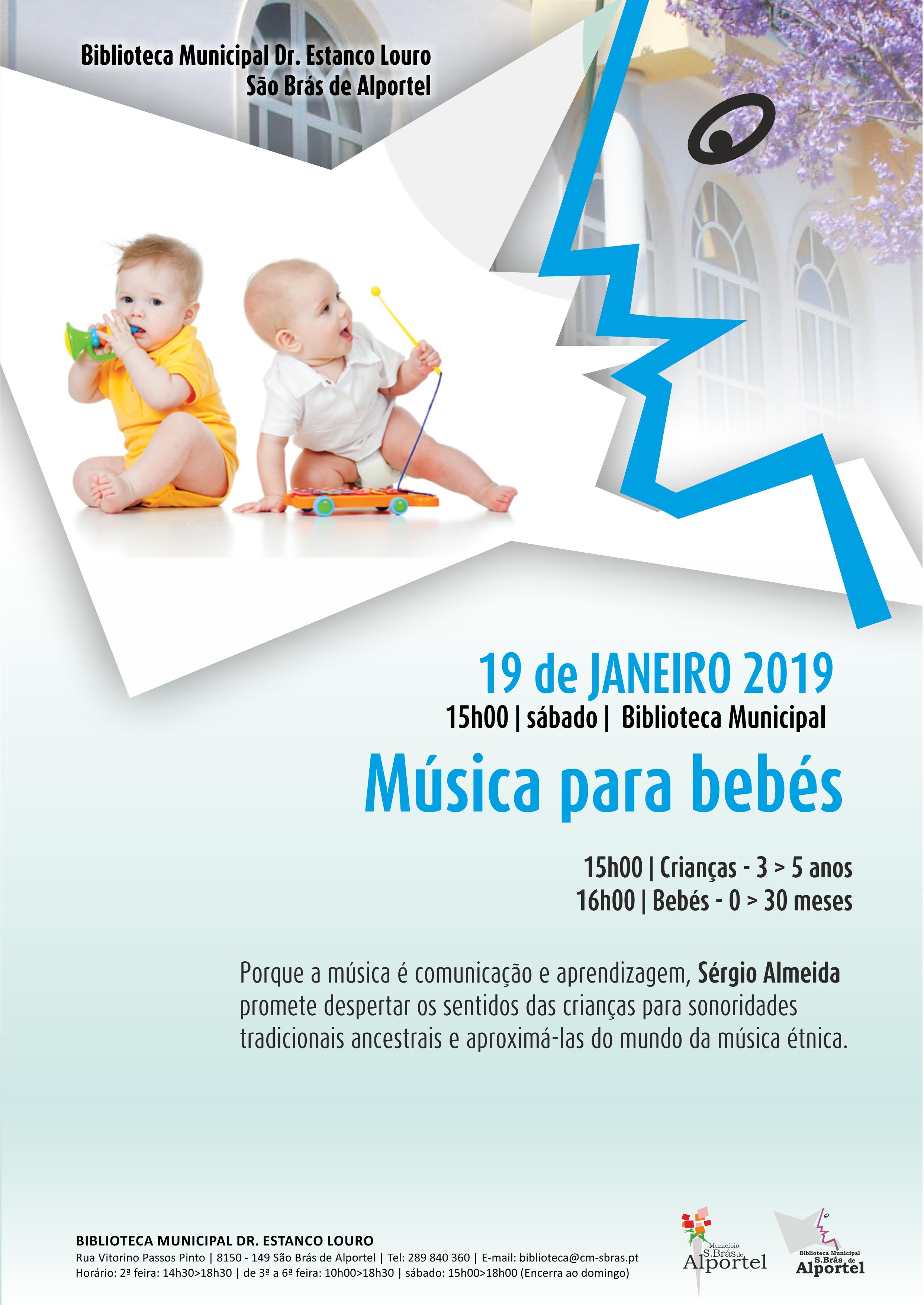 cartaz da sessão música para bebés