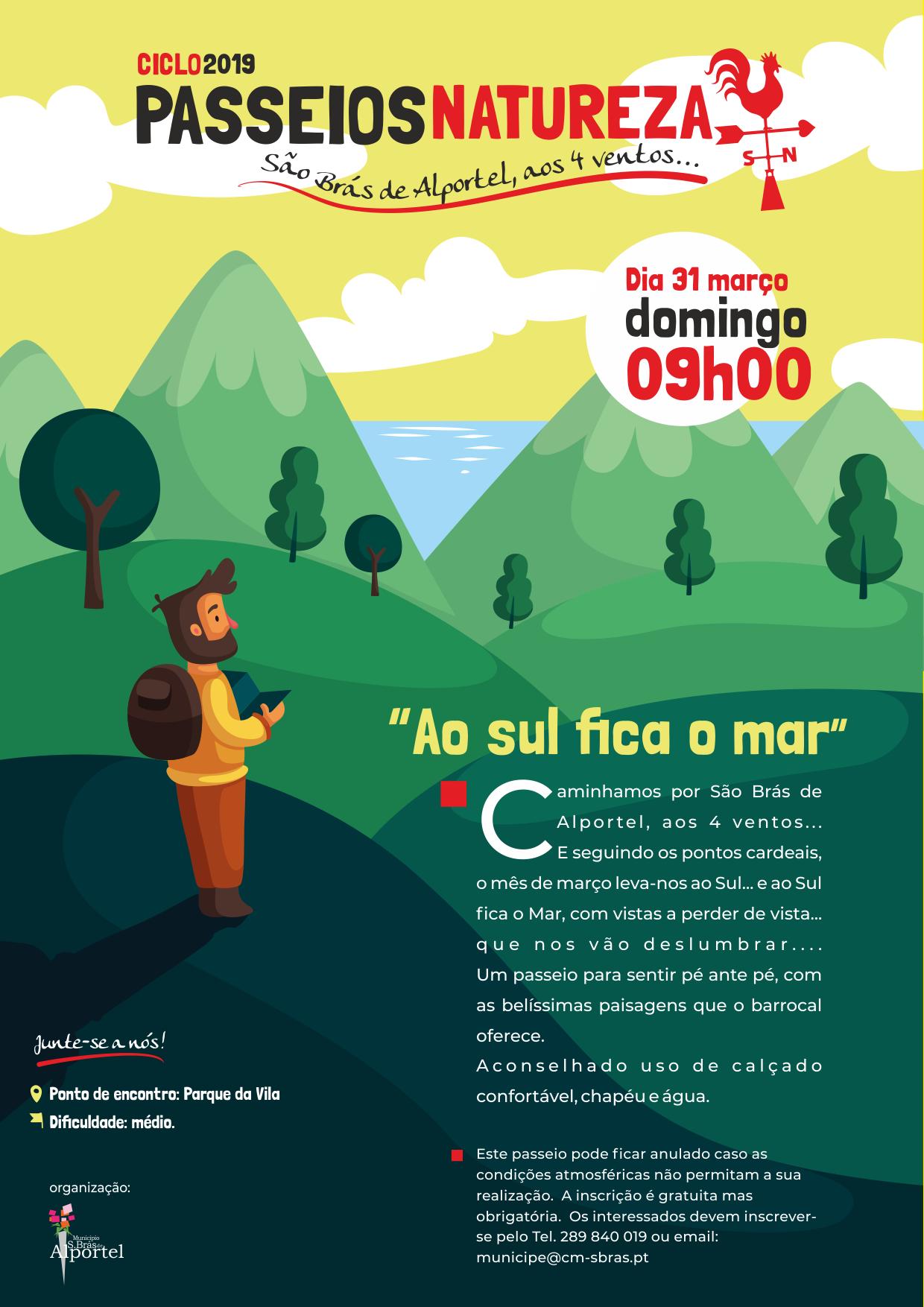 cartaz do ciclo de passeios natureza de marco de 2019