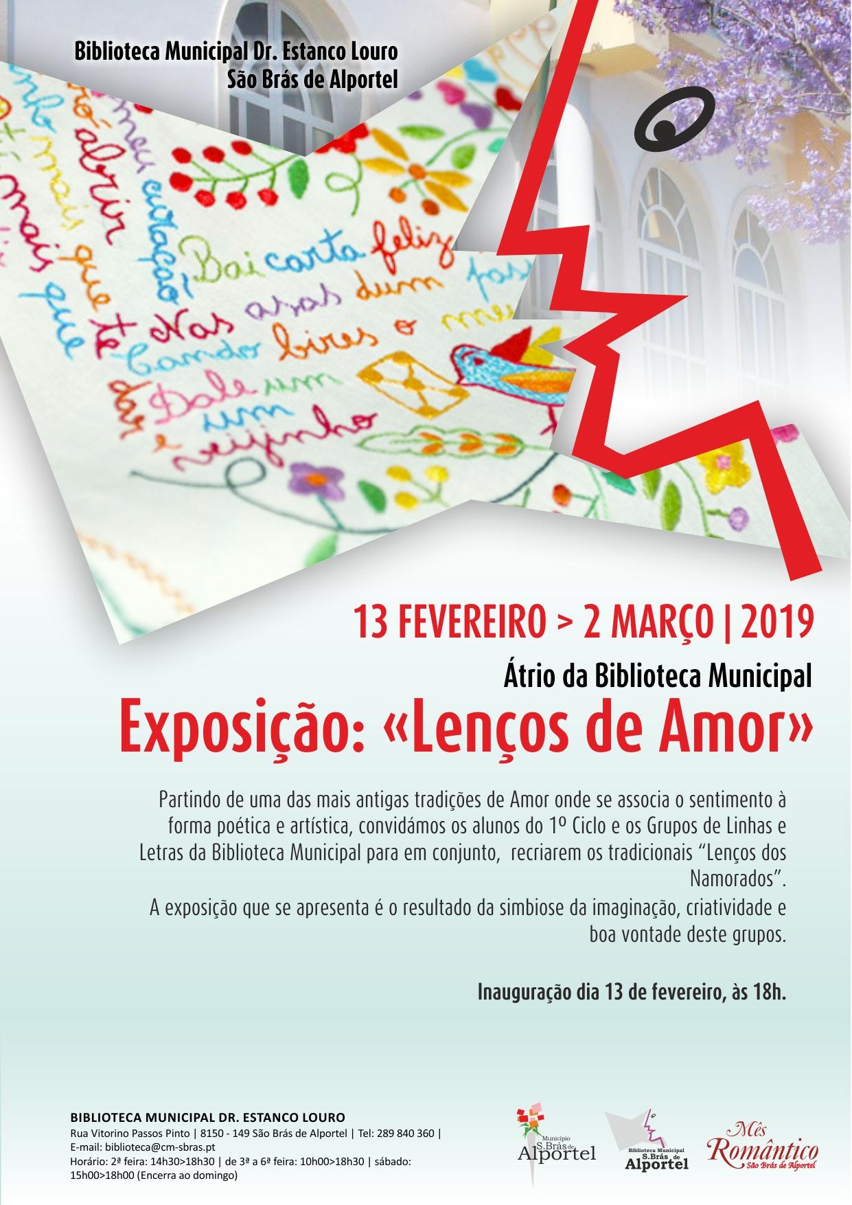 """cartaz da exposição """"lenços de amor"""""""