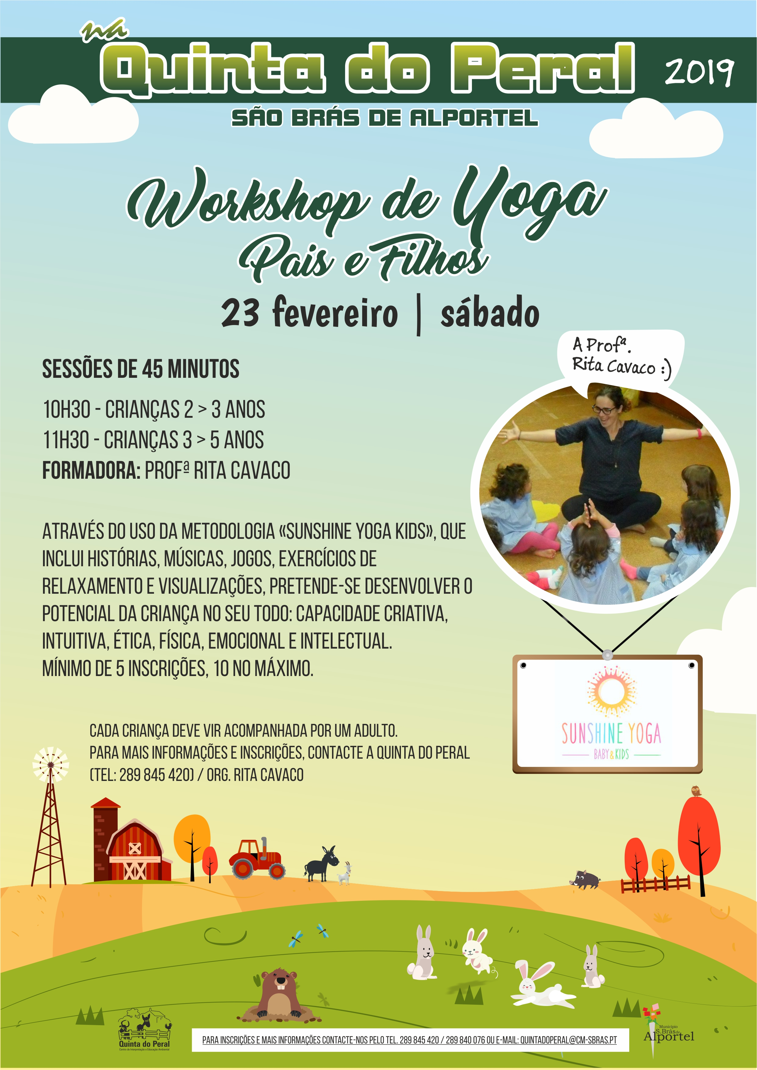 cartaz do workshop de yoga pais para filhos