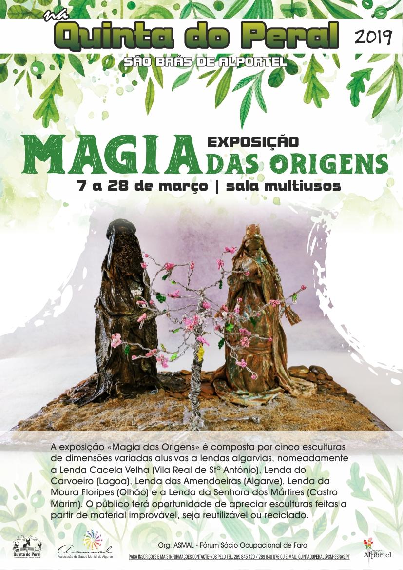 cartaz da exposição magia das origens