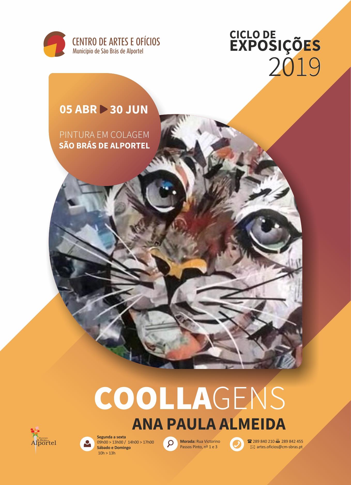 cartaz da exposição coolagens