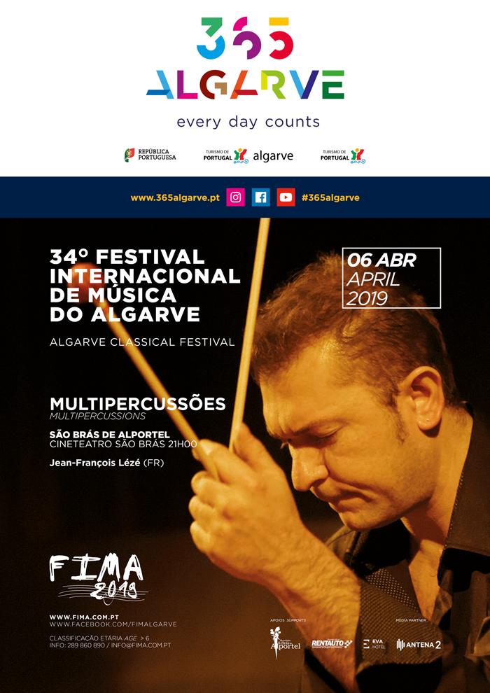 cartaz do concerto com Jean-François Lézé - Multipercussões