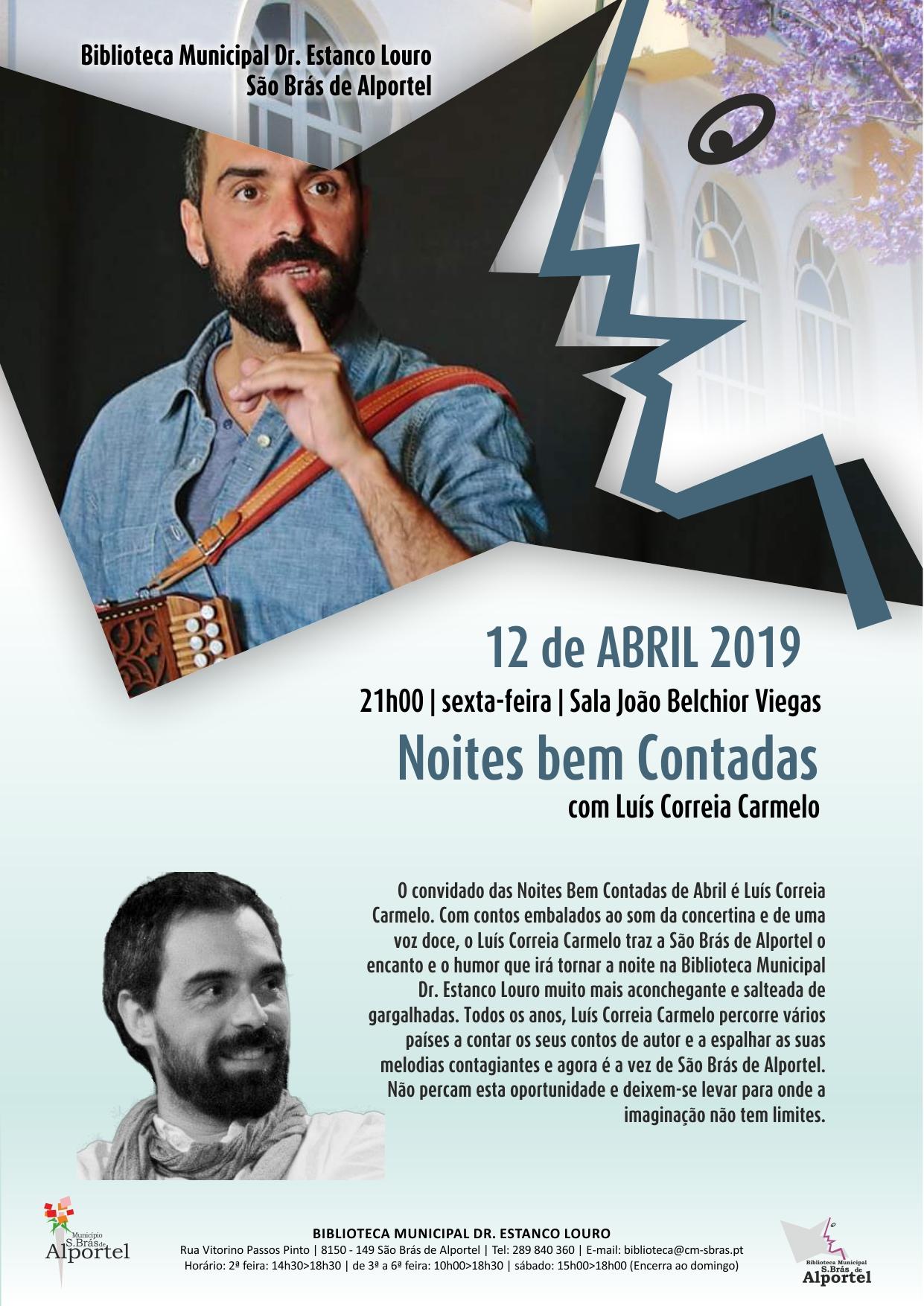 cartaz da sessão de noites bem contadas de abril de 2019