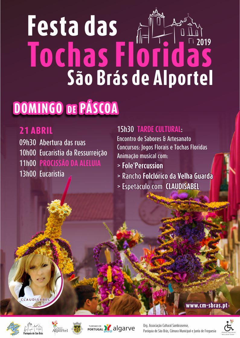 cartaz da festa das tochas floridas de 2019
