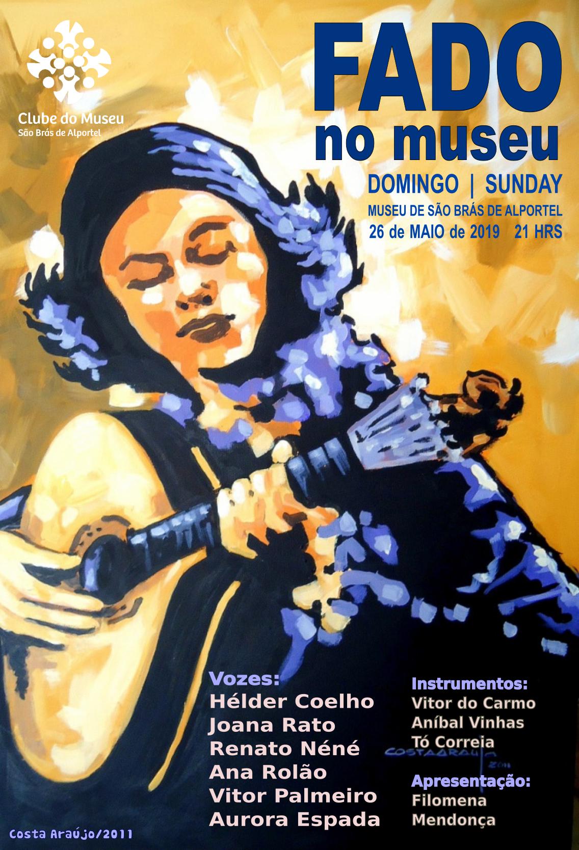 cartaz da noite de fado de maio de 2019