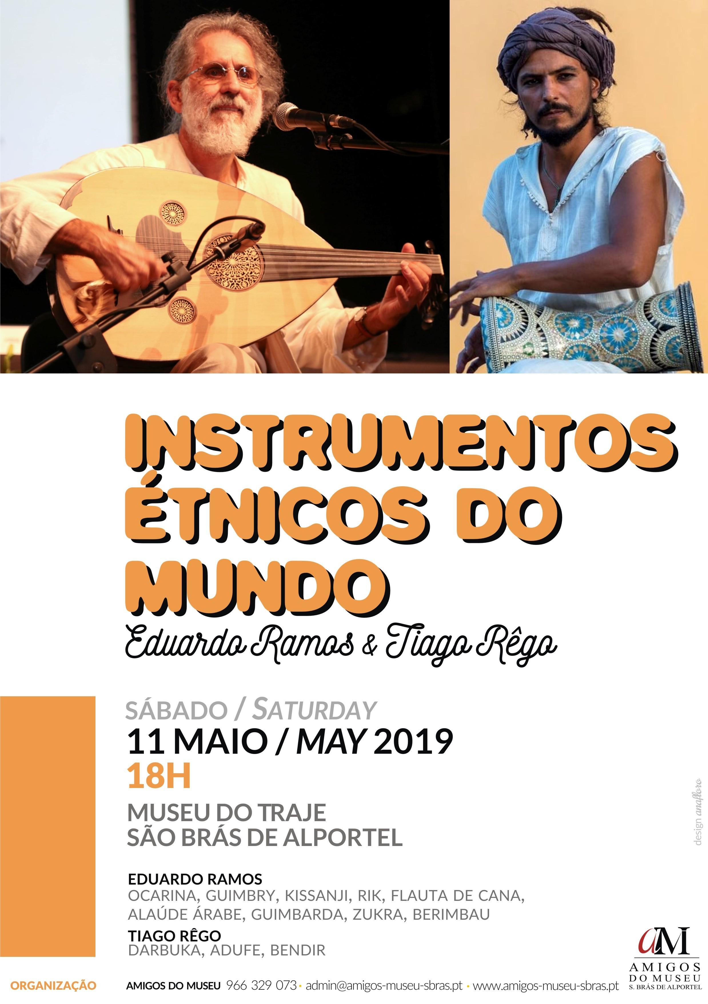 cartaz da sessão de instrumentos étnicos do mundo
