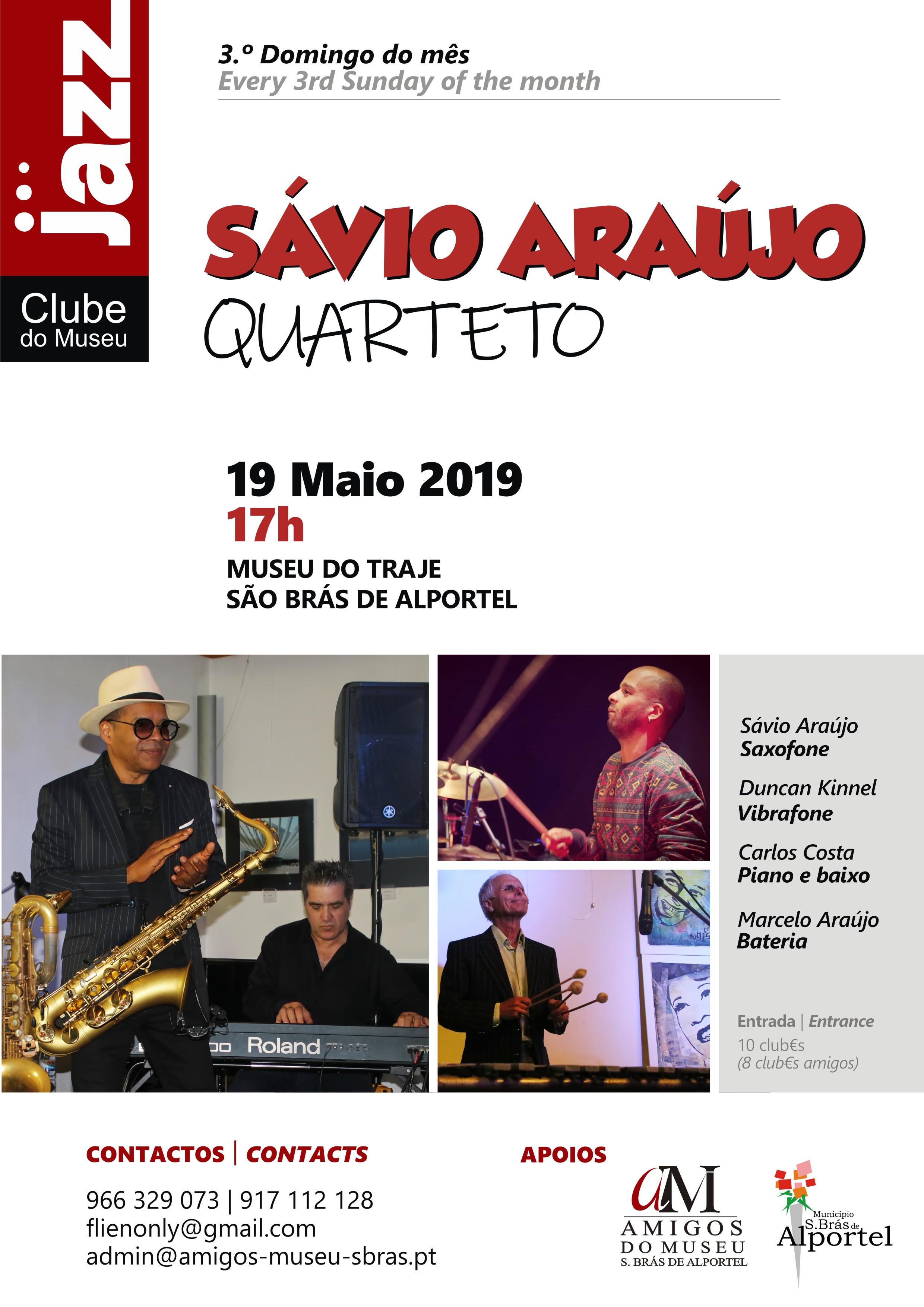 cartaz do clube de jazz de maio 2019