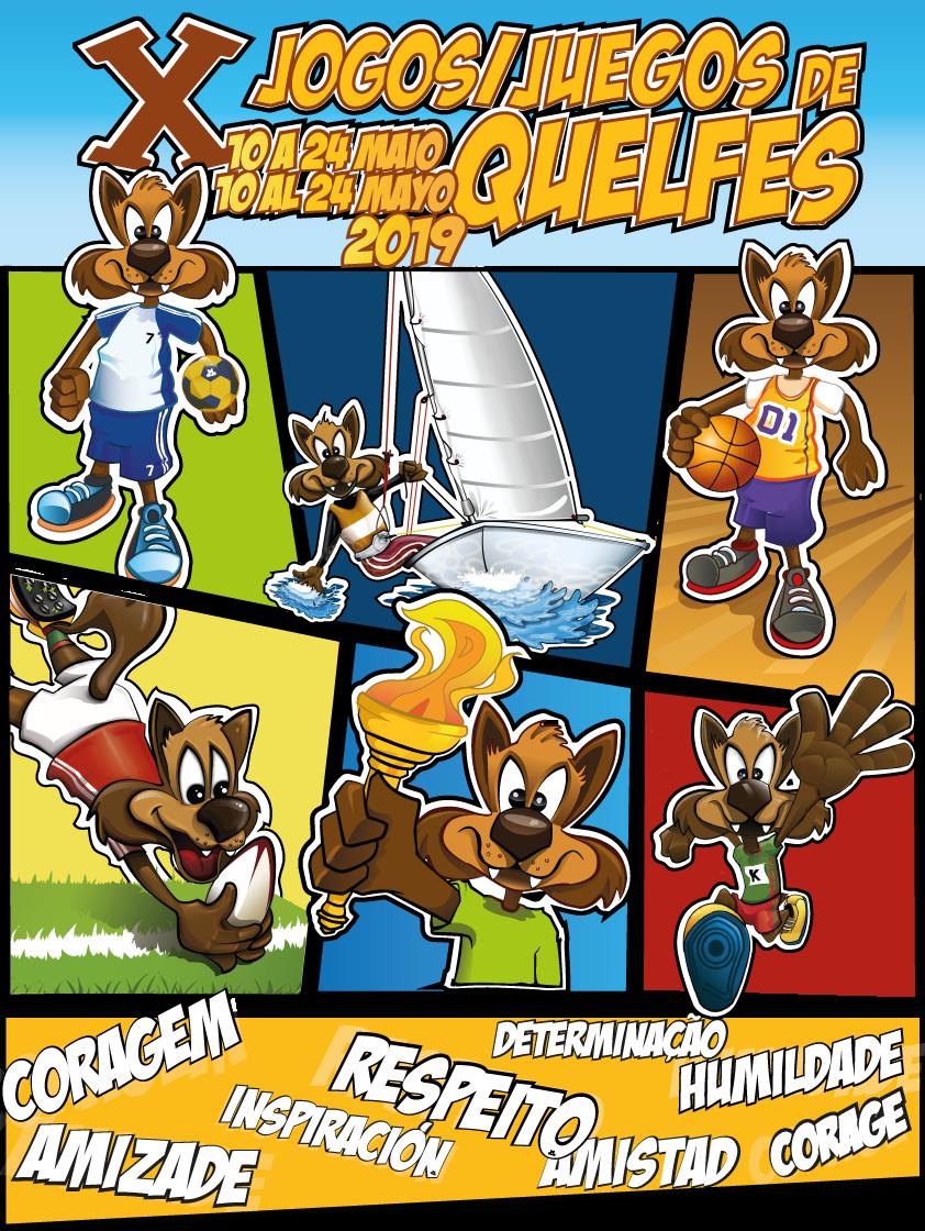 cartaz dos X jogos de quelfes