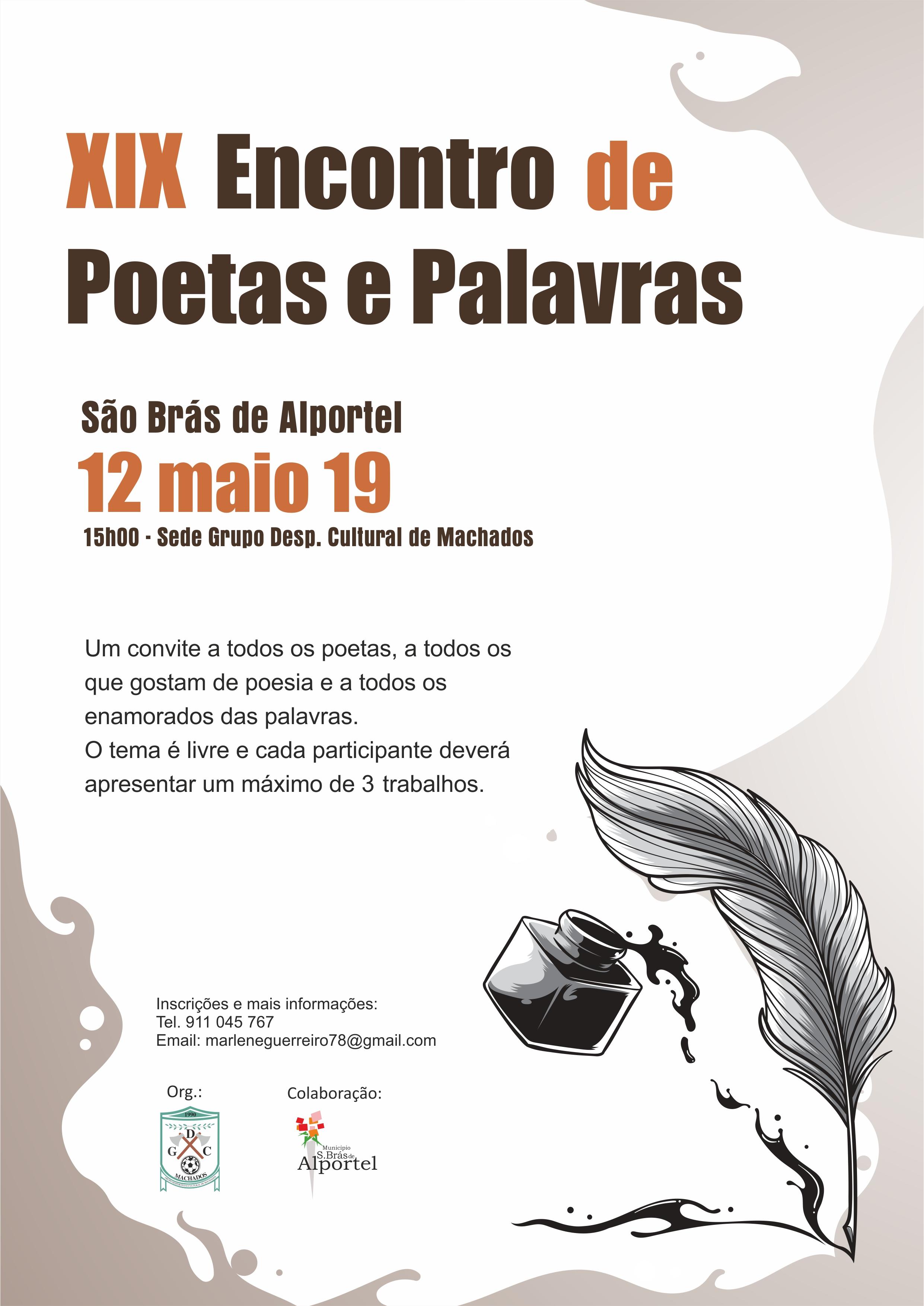 cartaz do XIX encontro de poetas e palavras