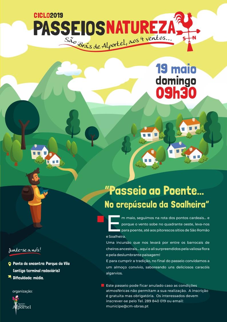 cartaz do ciclo de passeios natureza de maio de 2019
