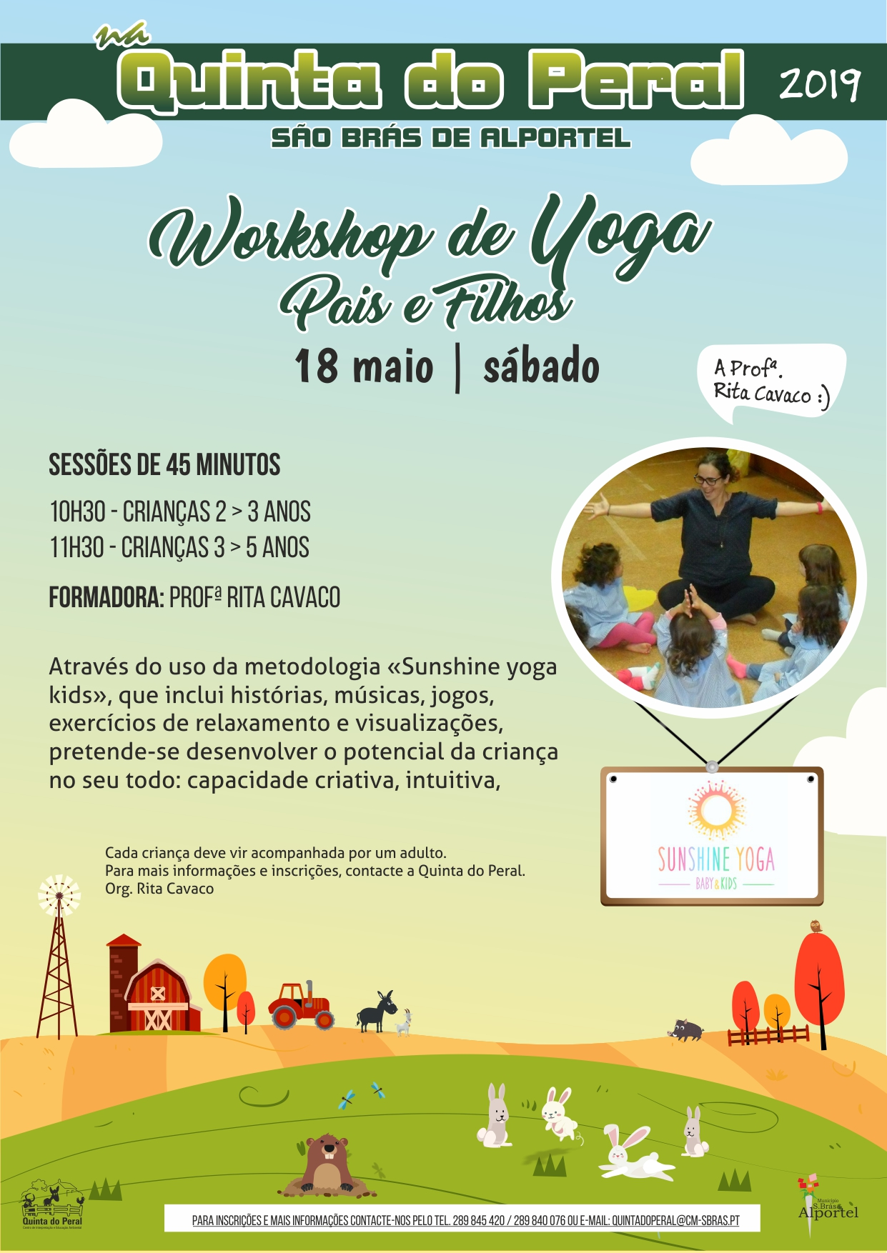 cartaz do workshop yoga pais e filhos