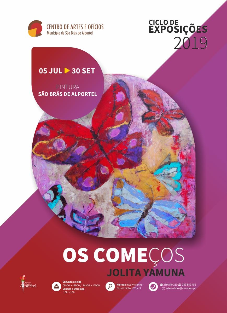 cartaz da exposição de pintura os começos