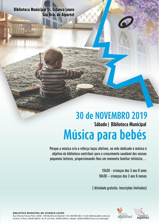 cartaz da sessão de música para bebés