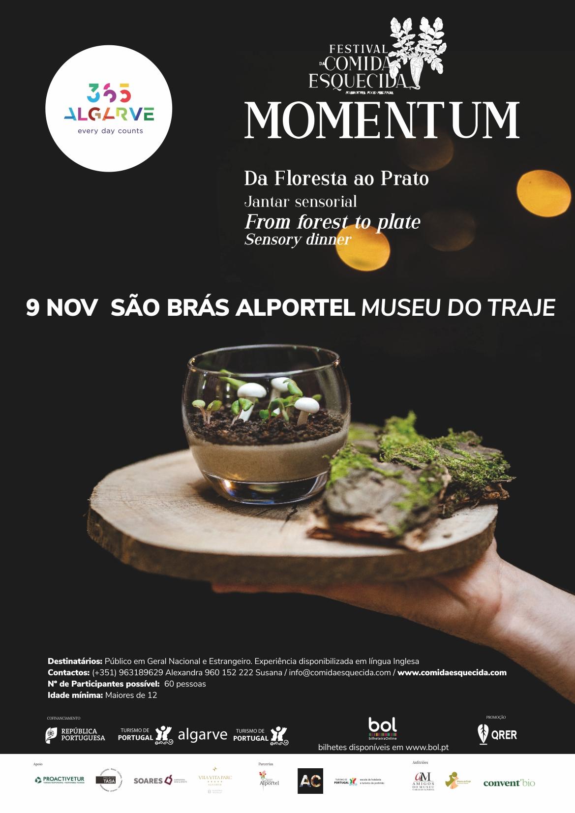 cartaz de momentum, festival de comida esquecida