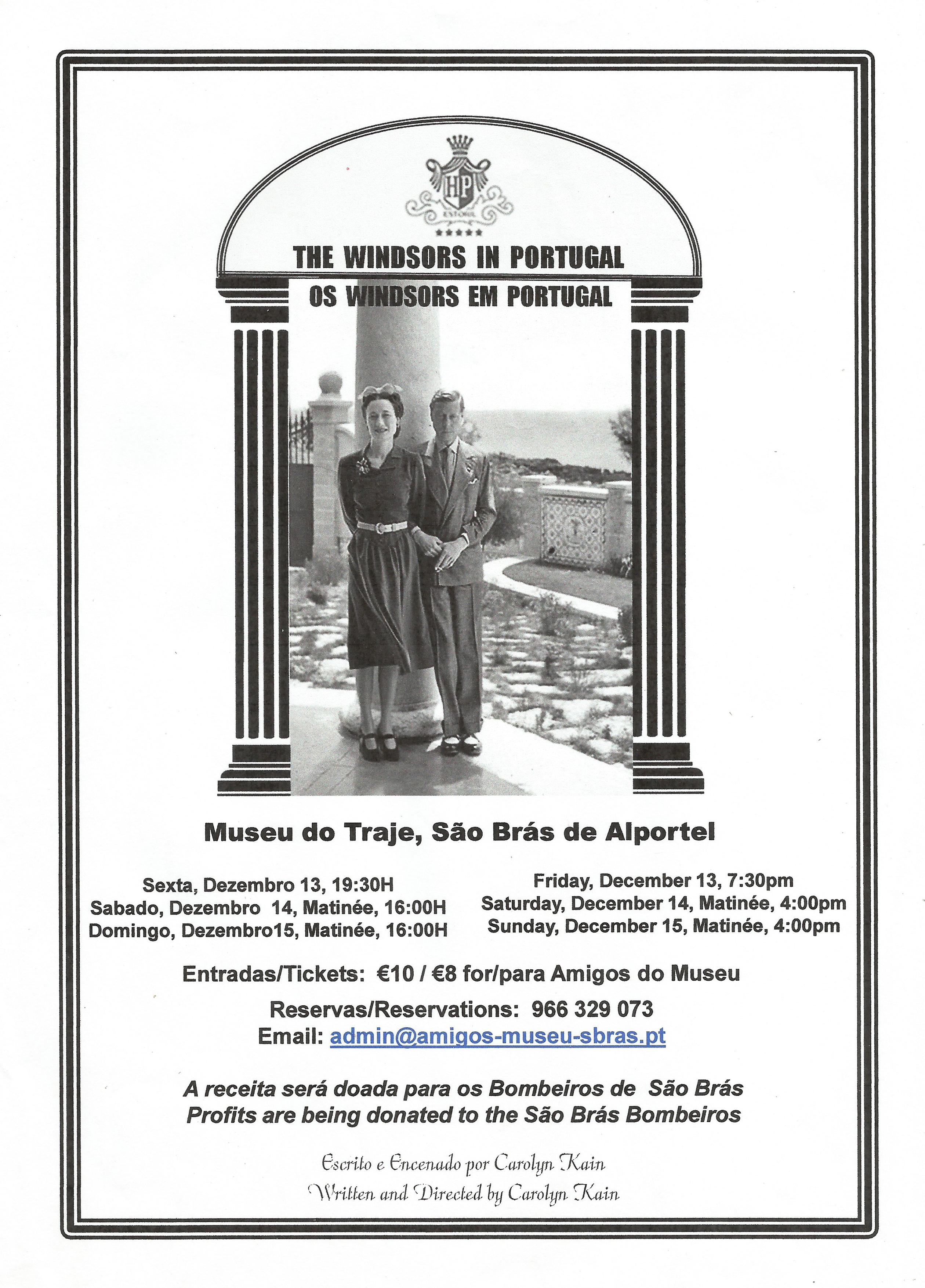 cartaz do teatro os windsors em portugal