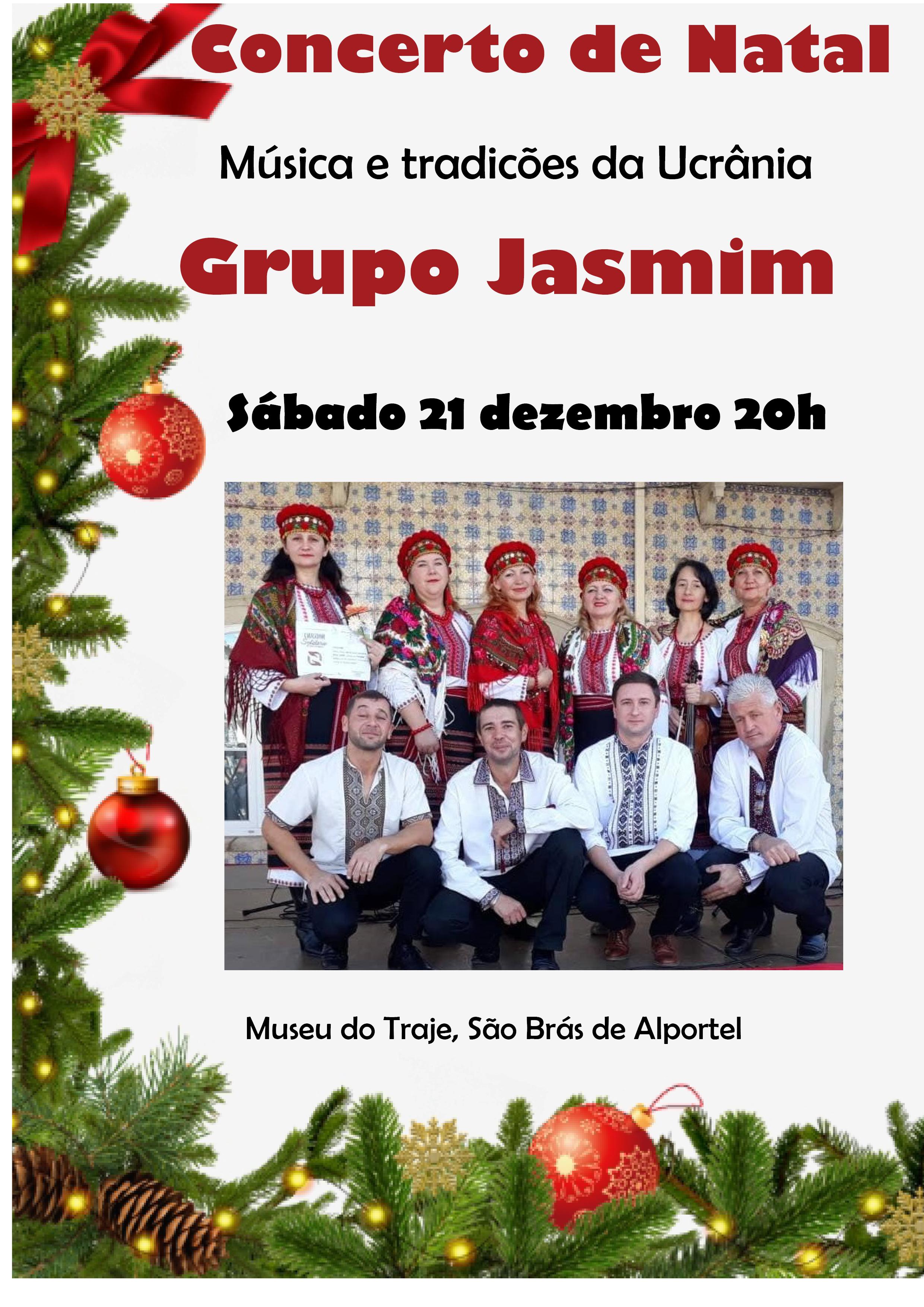 cartaz do concerto de natal pelo grupo jasmon