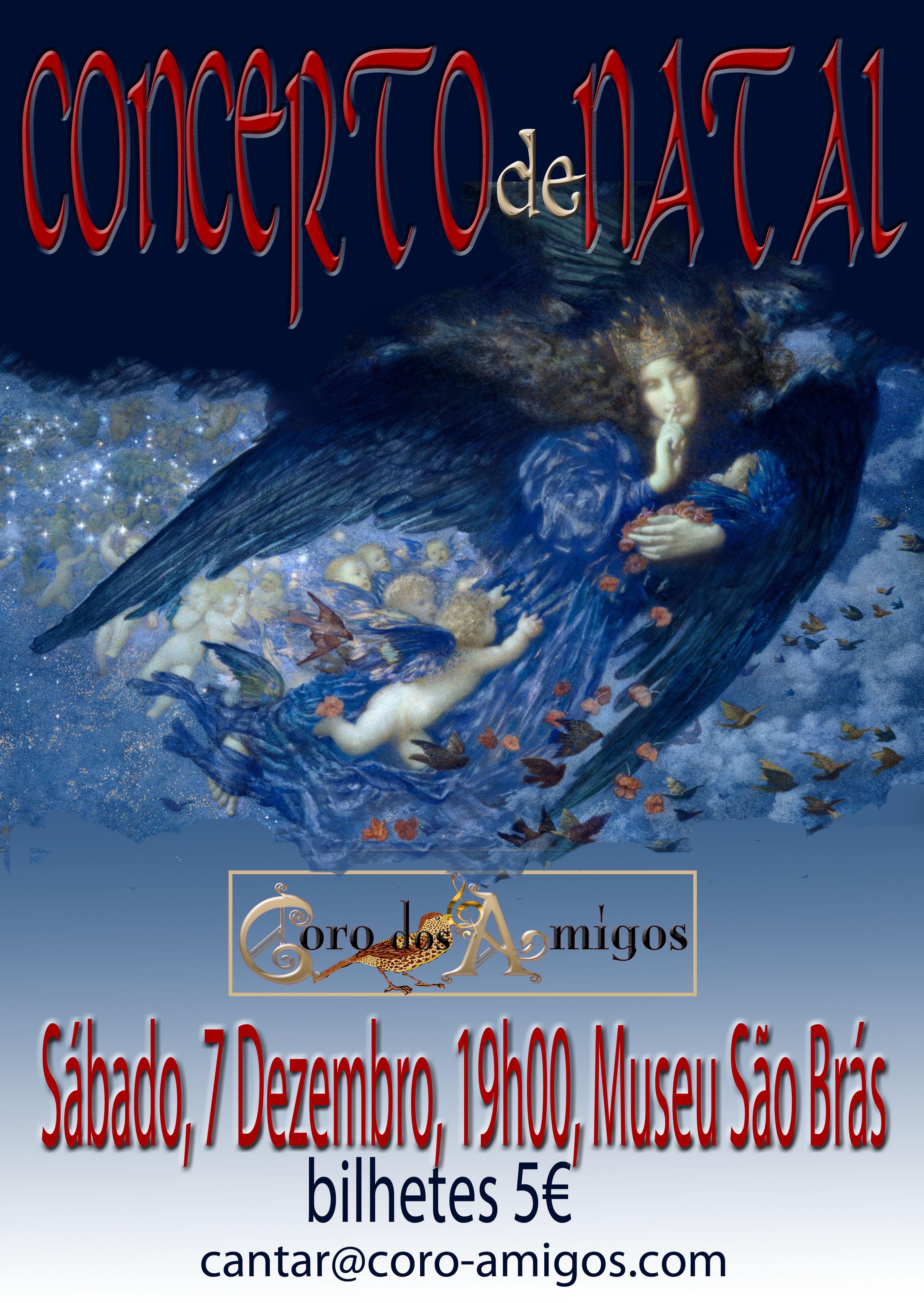cartaz do concerto de natal do coro dos amigos do museu