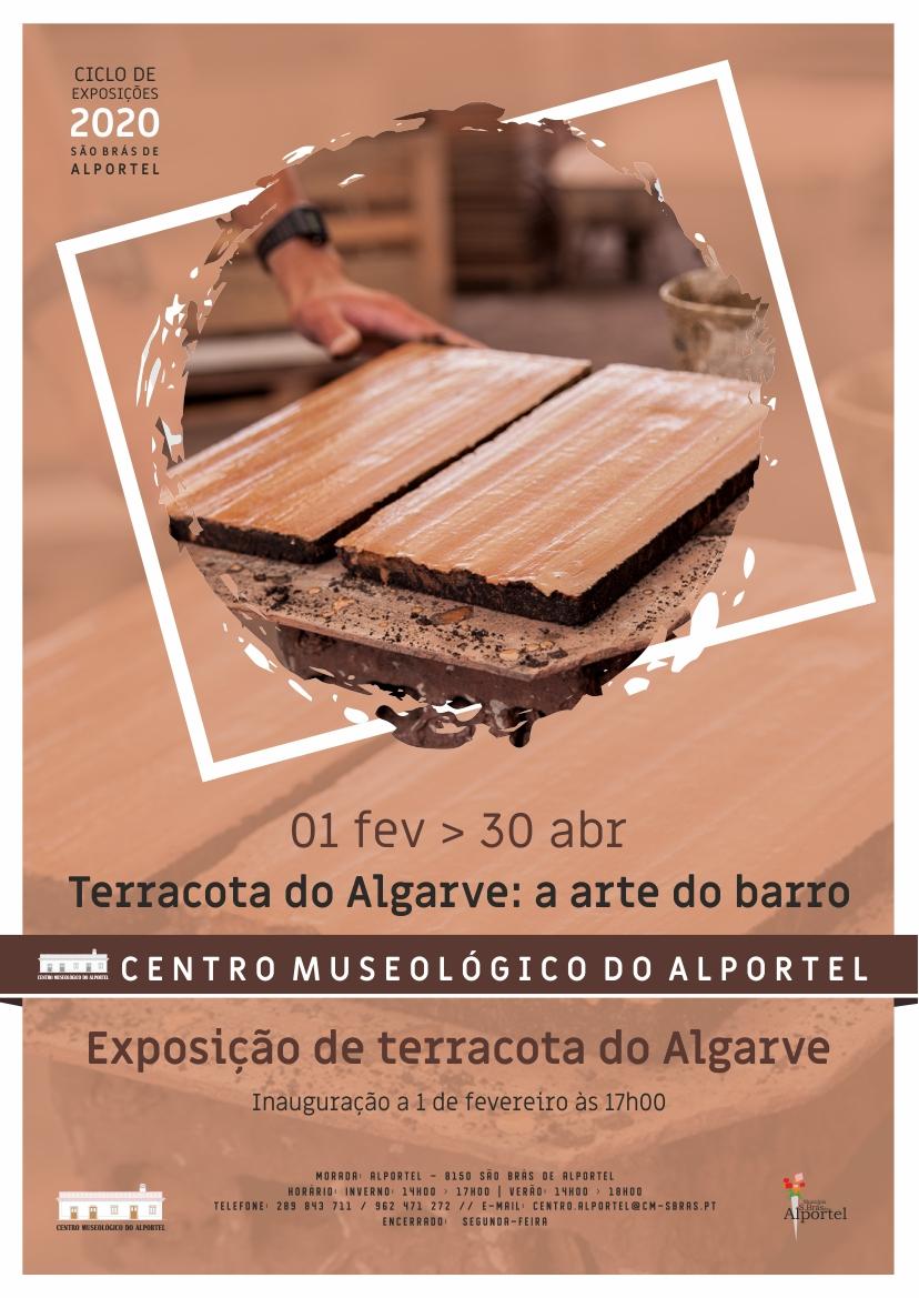cartaz da exposição terracota do algarve