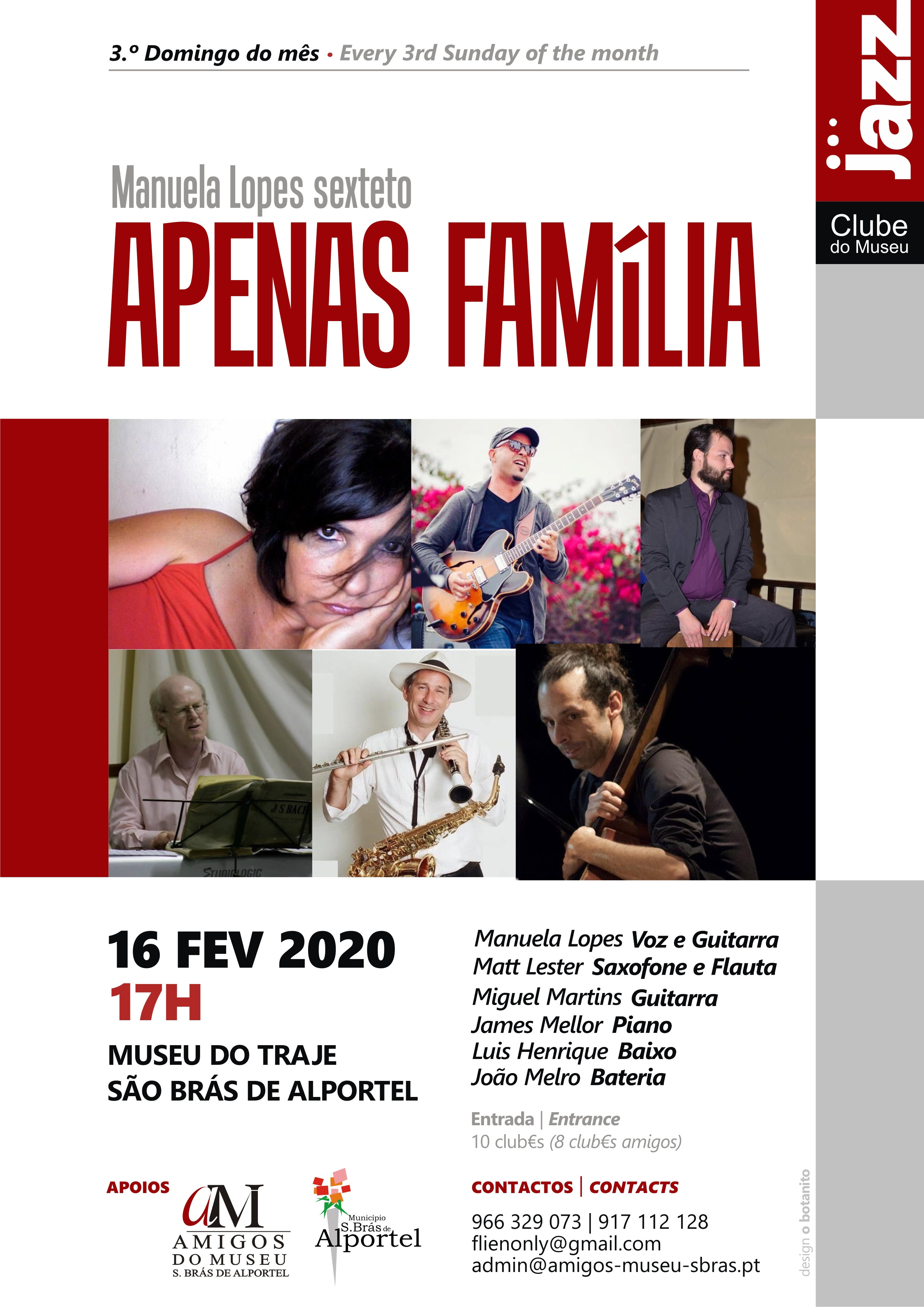 cartaz do clube de jazz de fevereiro de 2020