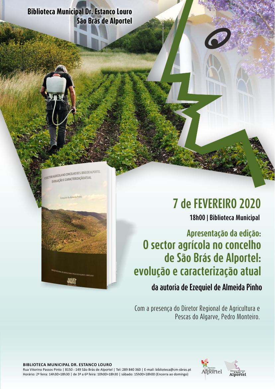 cartaz da apresentação do livro o setor agrícola no concelho de são brás de alportel