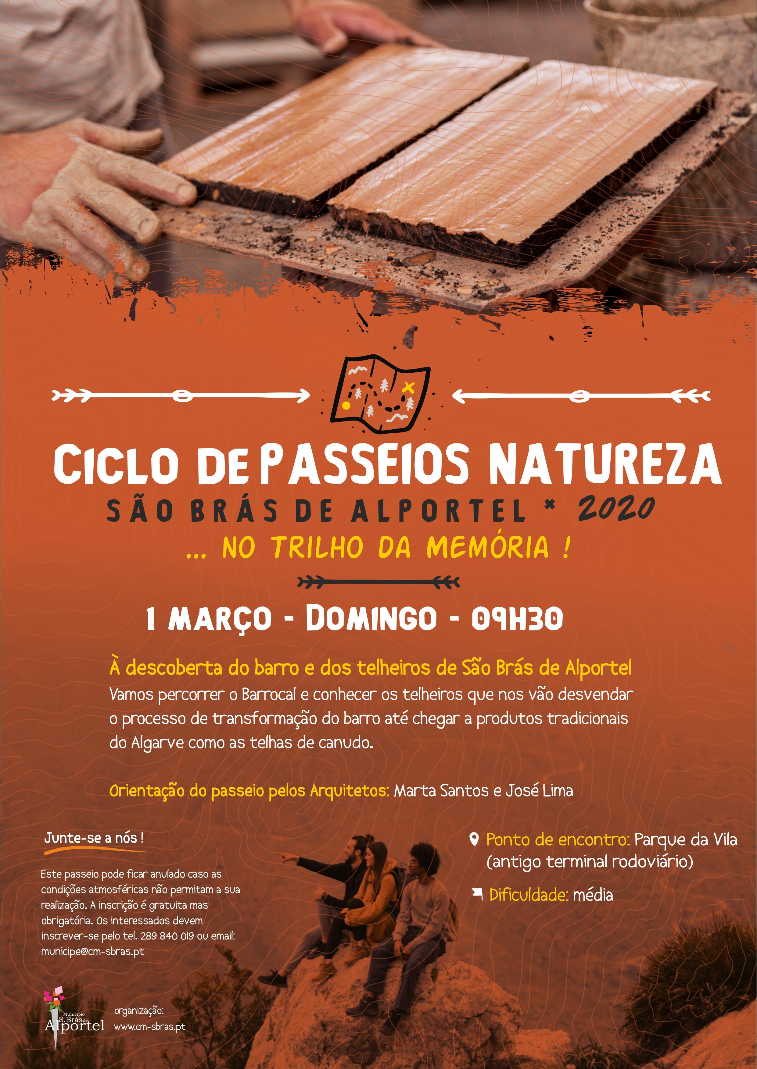 cartaz do ciclo de passeios natureza de fevereiro de 2020