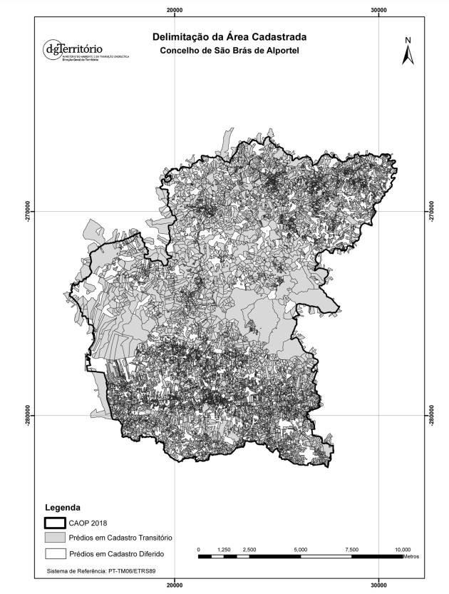 Delimitação da área cadastrada do Concelho de São Brás de Alportel