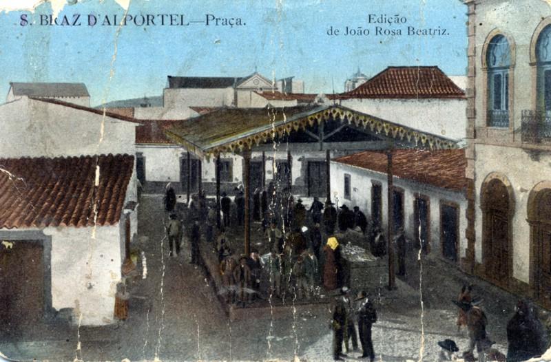 Praça - São Braz d'Alportel | Coleção de Postais da edição de João Rosa Beatriz